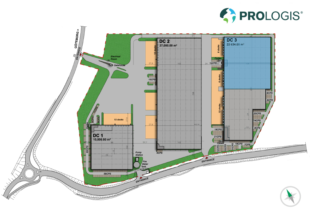 Hall Plan Prologis Park Gothenburg II