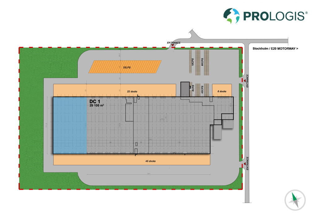 Hall Plan Prologis Park Eskilstuna