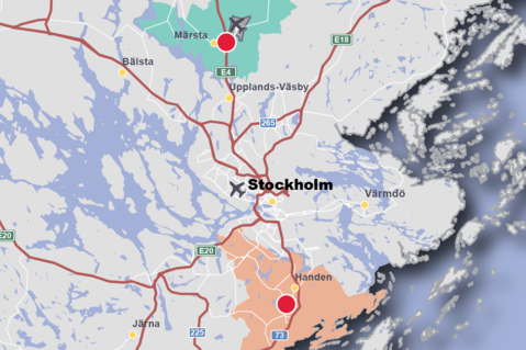 This is a map of Stockholm, Sweden